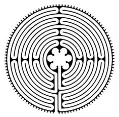 Chartres Style Labyrinth .... also as finger labyrinths