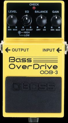Boss Bass Overdrive Distortion Pedal Great for any chorus