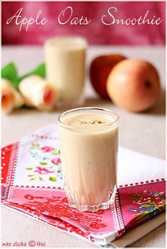 Apple Oats Smoothie... sounds great for breakfast