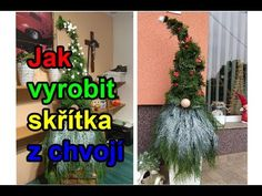 (411) Skřítek z chvojí a thují - Postup na výrobu - Jak vyrobit. Vánoční dekorace, Christmas decorations, - YouTube Christmas Gnome, Christmas Wreaths, Christmas Decorations, Xmas, Christmas Ornaments, Holiday Decor, Handmade Home, Craft Videos, Holidays And Events