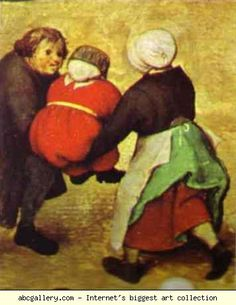 Dutch: Childrens Games (detail by: Pieter the Elder Bruegel Location: Kunsthistorisches Museum, Vienna, Austria. Giving the little one a ride on crossed arms? Or giving the red-and-gold Hapsburgs a free ride? Jan Van Eyck, Renaissance Paintings, Renaissance Art, Pieter Brueghel El Viejo, Pieter Bruegel The Elder, European Paintings, Dutch Painters, Online Painting, Old Master