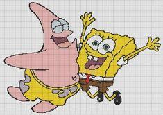 Bob e Patrick Homer Simpson, Pixel Art Templates, Stitch Cartoon, Fuse Beads, Perler Beads, Cartoon Movies, Spongebob Squarepants, Needle And Thread, Stitch Patterns