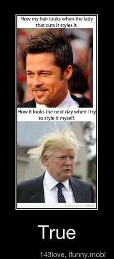 Lol. It's also hilarious when long comb-overs blow the wrong way in the wind.