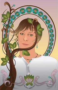 Illustrator self-portrait.