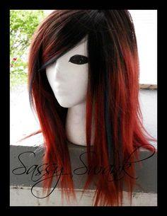 Wish | O M B R E L O V E 100 Percent Human Hair Custom Ombre Wig Tip Dip Dye Gradient Scene