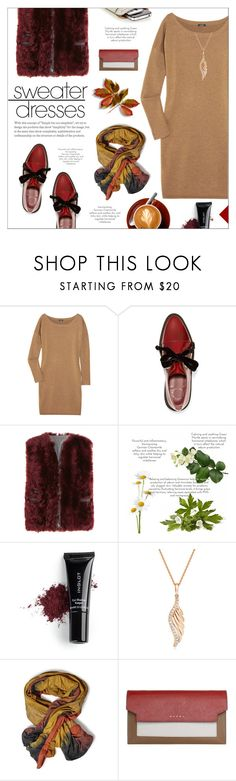 """Out & About: Sweater Dresses"" by yoa316 ❤ liked on Polyvore featuring J.Crew, Marc by Marc Jacobs, Brunello Cucinelli, Inglot, BERRICLE, Marni, Alaïa and sweaterdresses"