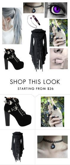 """""""Dark Crystal Queen"""" by bvb-army-girl-16 ❤ liked on Polyvore featuring Jeffrey Campbell, women's clothing, women, female, woman, misses and juniors"""