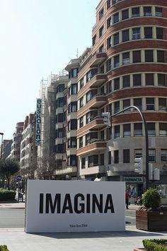 IMAGINA: YOKO ONO STREET INSTALLATION IN BILBAO
