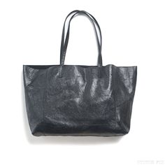 Marcy Genuine Leather Metallic Tote