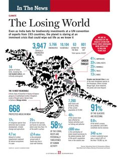 Infographic showing loss of biodiversity.