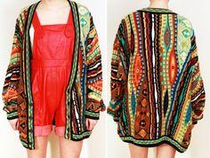 Vtg 80s Southwest Rainbow Cardigan/Sweater M/L/OS Rainbow Cardigan, Sweater Cardigan, Trending Outfits, Blouse, Sweaters, Clothes, Vintage, Etsy, Tops