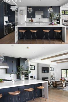 Kitchen Room Design, Modern Kitchen Design, Home Decor Kitchen, Interior Design Kitchen, Home Kitchens, Kitchen Designs, Large Modern Kitchens, Modern Kitchen Plans, Large Open Plan Kitchens