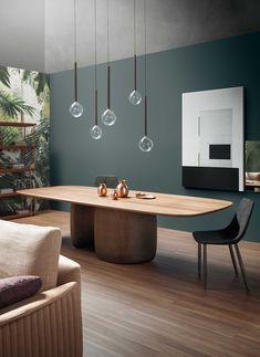 Large Furniture, Furniture Design, Design Tisch, Luxury Furniture Brands, Dining Room Design, Interior Inspiration, Designer, Dining Table, Table Lamp