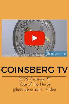 Coinsberg TV: 2002 #Australia $1 silver gilded #coin Year of the #Horse #Lunar series I 1 Oz - Video