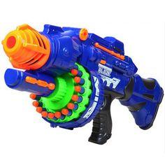 Armas de Juguete Pistola de Juguete eléctrico 20 unids Suave Bala Arma Grande Lanzadores CS Al Aire Libre Juguetes Para niños Regalo de Cumpleaños