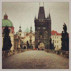 Charles Bridge just after dawn - Prague, Czech Republic