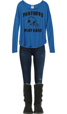 """Carolina Panthers Game Day!"" by keraashley on Polyvore"