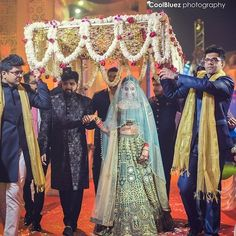Looking for Bridal Lehenga for your wedding ? Dulhaniyaa curated the list of Best Bridal Wear Store with variety of Bridal Lehenga with their prices Wedding Props, Indian Wedding Decorations, Wedding Photoshoot, Indian Weddings, Wedding Ideas, Wedding Events, Hall Decorations, Wedding Bells, Bride Entry