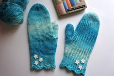 Mie ite!: Virkatut lumilapaset- ohje. Diy Projects To Try, Knit Crochet, Crochet Blogs, Diy And Crafts, Gloves, Knitting, Handmade, Hand Made, Tricot