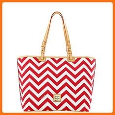 Dooney & Bourke Chevron Leisure Shopper - Red/White - Shoulder bags (*Amazon Partner-Link)