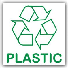 From 1.29 Plastic Recycling Adhesive Sticker-recycle Logo Sign-environment Label