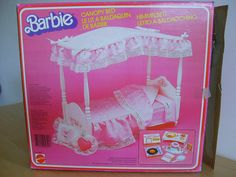 The Barbie canopy bed I totally ADORED!