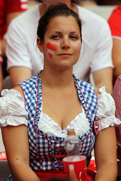 #EURO2016 An Austrian fan during the UEFA EURO 2016 Group F match between Iceland and Austria at Stade de France on June 22 2016 in Paris France