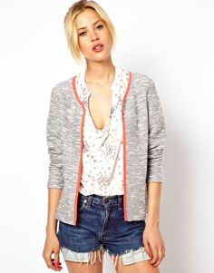 Perfect for Summer! ASOS Blazer In Textured Boucle with Fluro Binding