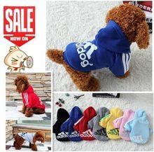 Vestiti del cane animali domestici cappotti di cotone morbido cucciolo vestiti del cane adidog vestiti per cane nuovo 2015 autunno pet products 7 colori xs-4xl(China (Mainland))