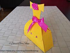 Princess Belle Favor Box, Inspired Belle Favor Box dress