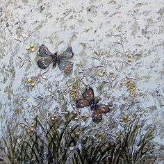 Gefii - 100% Hand-painted Abstract Painting Butterflies Wall Decor Landscape Paintings on Canvas 32x32 Inch Stretched Framed Ready to Hang gefii http://www.amazon.com/dp/B00Q32BV7A/ref=cm_sw_r_pi_dp_BQLEvb122108D