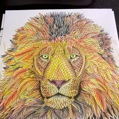 My Lion colouring ✏ from The Menagerie colouring book #TheMenagerie…