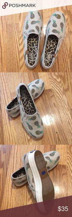 KEDS pineapple motif slip on shoe Adorable & fun Keds 🍍 slip ons! Keds Shoes Sneakers