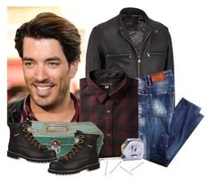 """""""Jonathan Scott"""" by musicfriend1 on Polyvore featuring Andrew Marc, Georgia Boot, men's fashion, menswear, plaid, WardrobeStaples and PropertyBrothers"""