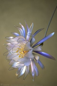 2011 Kanzashi moonlight floral hairpin by Kanzashi artist Sakae