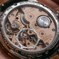 Reverse Side Of The F. Mvmt Watches, Fine Watches, Luxury Watches, Cool Watches, Watches For Men, Fleurier, Dead Beat, Most Popular Watches, Tourbillon Watch