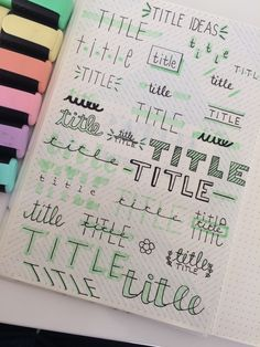 Learn hand lettering with me and learn creative lettering styles! Bullet Journal Headers, Bullet Journal Lettering Ideas, Bullet Journal Banner, Journal Fonts, Bullet Journal Notebook, Bullet Journal School, Bullet Journal Ideas Pages, Bullet Journal Inspiration, Bullet Journal Title Fonts