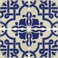 Moroccan Blue is a Moroccan inspired ceramic wall tile.  This blue and white tile is a great choice for designers wanting a Moroccan flare without the bright colours usually found in such tiles.