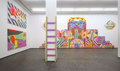 Mixing it all up in a kaleidoscopic fusion of painting, video art and furniture design, Ben Jones has created a contemporary world of f. Ben Jones, Art Google, Sculpture Art, Furniture Design, Art Gallery, Illustration Art, Kids Rugs, Contemporary, Artist