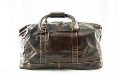 Alpenleder Leren Duffel Bag - Weekender Alabama Brandy