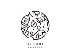 Alumni Compass by Udhaya chandran | Baspixels #Design Popular #Dribbble #shots