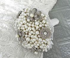 Bouquet de noiva com pérolas