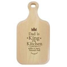 King of the Kitchen Large Paddle Chopping Board