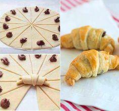 NapadyNavody.sk   Domáce croissanty s nutelou