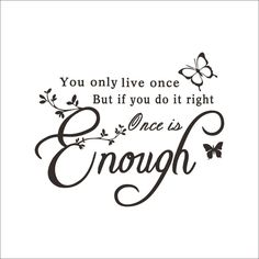Once Is Enough English Motto PVC Plane Wall Stickers Dark Brown Wh... ($11) ❤ liked on Polyvore featuring home, home decor, wall art, wall stickers and english home decor