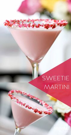 Mix up a yummy Valentine's Day cocktail! The sweetie martini doesn't just have an adorable name; it's delicious! It's creamy and sweet and reminiscent of cake batter. To make two servings, combine vodka, white chocolate liqueur, amaretto, half and half, and grenadine. Decorate the rim of the glass with honey and red, pink, and white sprinkles. Head to eBay for the full recipe to this Vday martini!