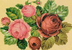 Схема вышивки крестом 'Благоухающие розы'