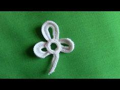 A Small Shamrock in Irish Crochet Lace