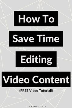 Not creating video content because editing takes FOREVER?  It doesn't have to!  I promise!  Click through to read how I minimize the time I spend editing video and a video tutorial on what exactly I do when I edit a video!