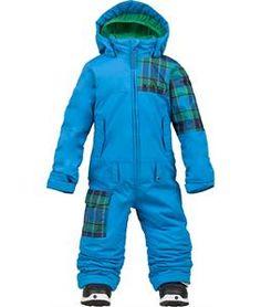 Perfect. Burton snowboard toddler snowsuit!